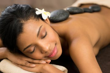 Hete steen massage